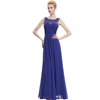 Starzz Sleeveless Chiffon Long Royal Blue Bridesmaid Dress Long Evening Dress ST000060-4