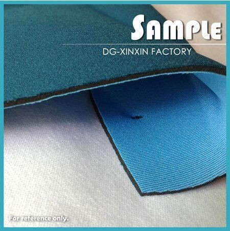 textured SBR neoprene rubber sheet with fabric for wholesale