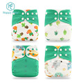 Happy flute New 4 in pack Washable Cloth Diaper Adjustable Reusable Cloth Diapers