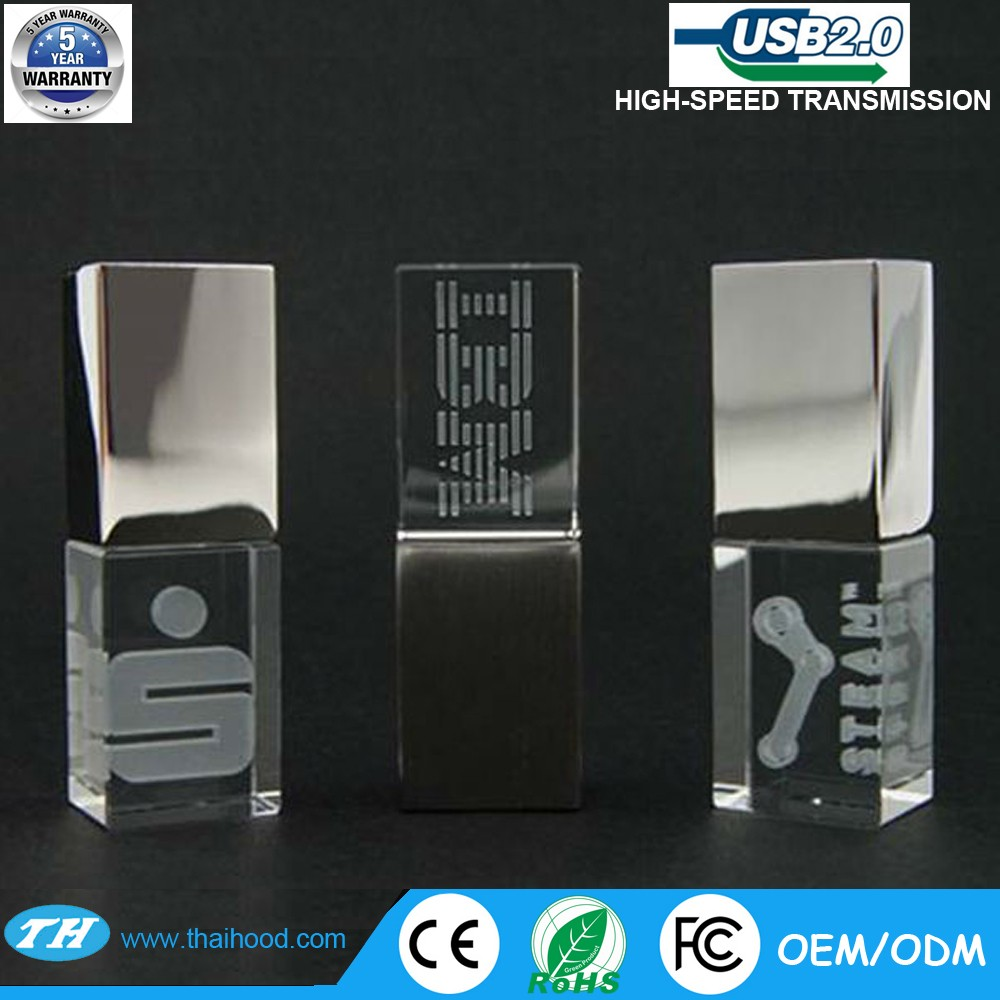 custom LOGO High grade Promotional custom crystal otg USB flash drive