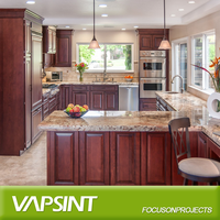 wholesale and prefab solid wood kitchen cabinet