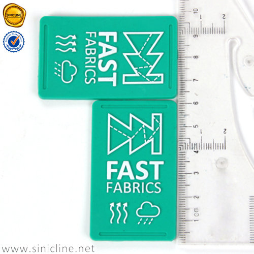 Sinicline 2016 white embossed logo round shape custom pvc rubber patches