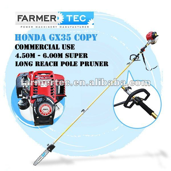 4 Stroke 35cc Pole Prunner Long Reach Pole Trimmer