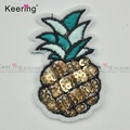 Fashion very hot pineapple shirt cheap custom sequin patch WEFB-002