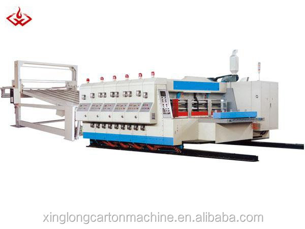 Automatic colorful cartons flexo printer slotter and die cutter