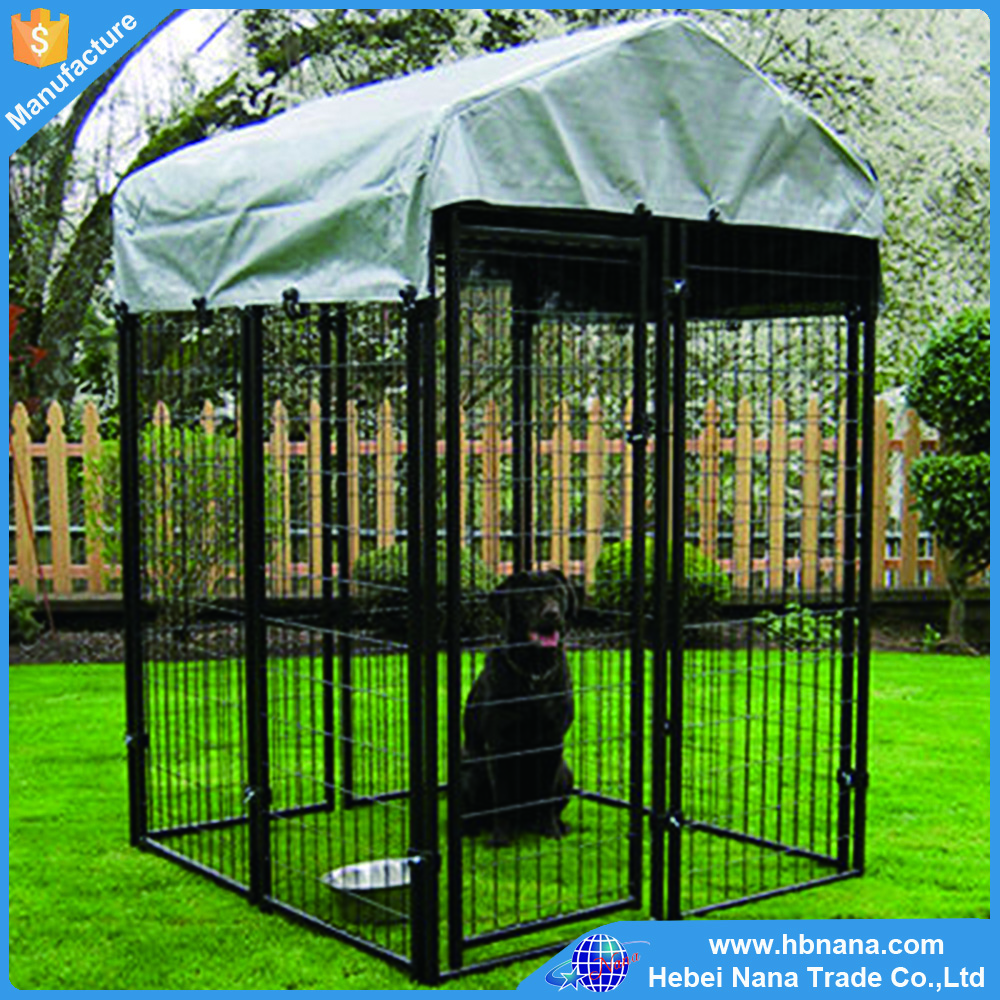 Factory galvanized comfortable welded mesh dog kennel chain link dog cages