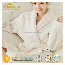 Best Quality tailored collar plain bathrobe for SPA / hotel