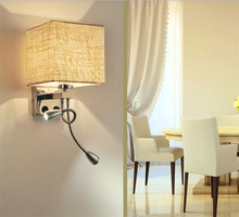 Best price brushed nickel power outlet hotel wall lamp reading lamp for USA Canada Mexico from zhongshan factory
