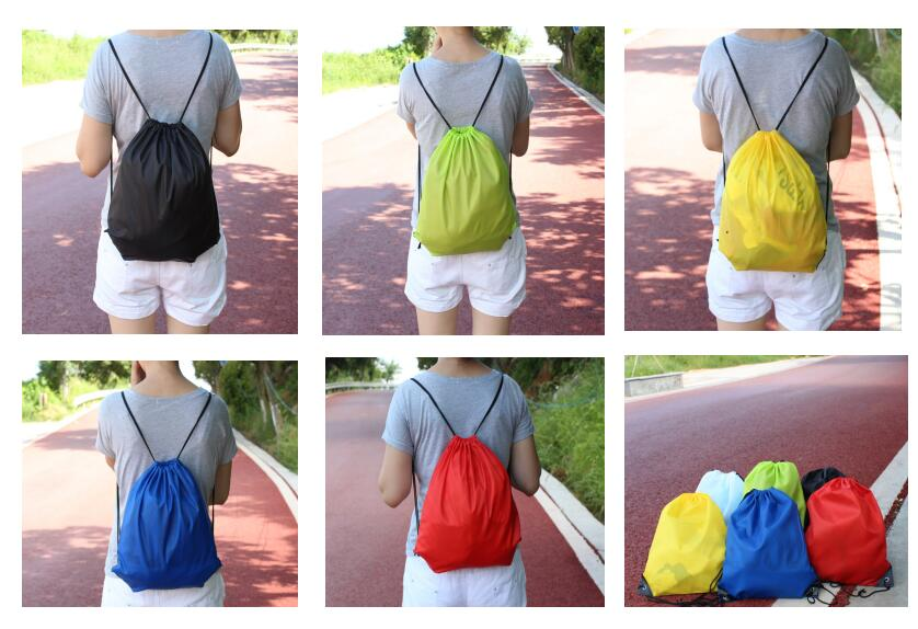Factory Customized Golf With Heatt Transfer Printing Drawstring Bag