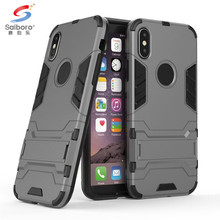 SAIBORO Two In One TPU+PC Shock Proof armor back case cover for apple for iphone x