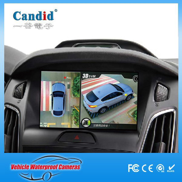 blind spot surround view camera system , driving assistance 2D 3D surround view car monitor all round wide vision