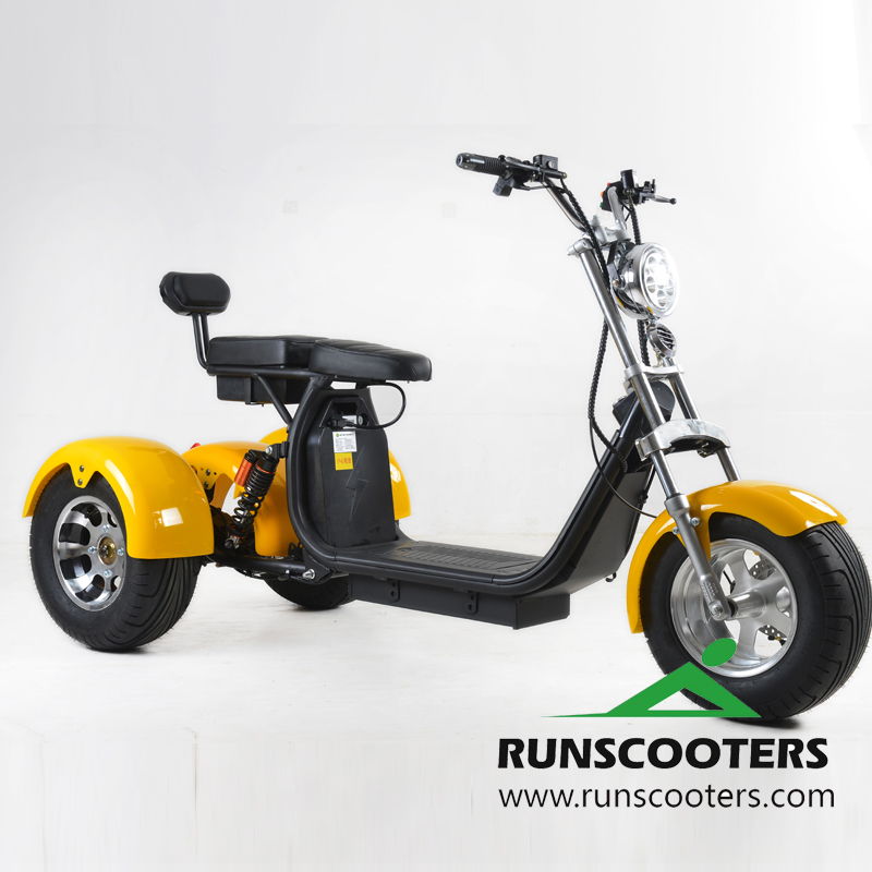 RUNSCOOTERS 2018 new three wheels fat tire electric citycoco motorcycles