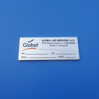 Global Air Services FAA Repair Station Aluminum Nameplate With Adhesive Tape