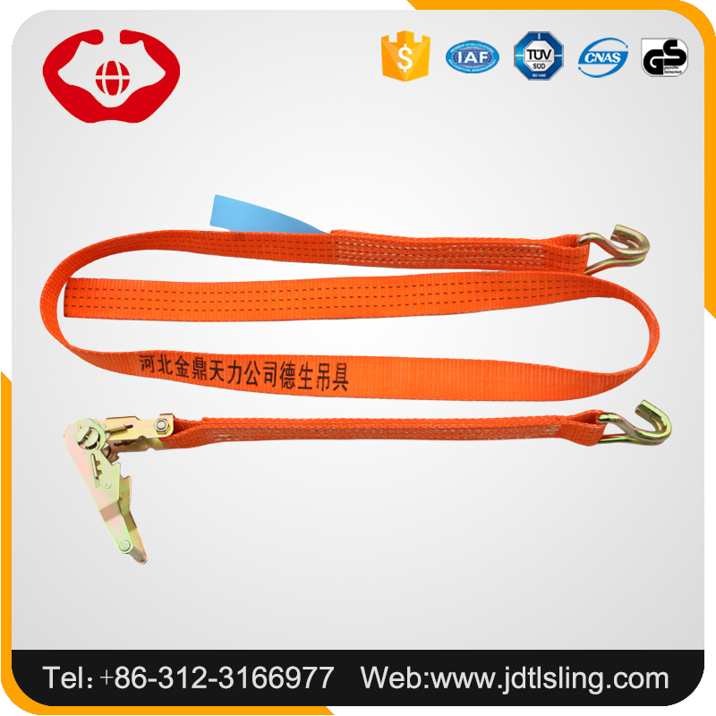 Labor-saving cargo container ratchet belt with trade assurance