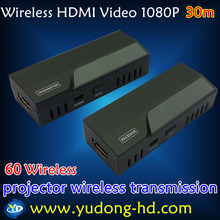 Free shipping 60G HDMI wireless transmission 30M LOS Wireless HDMI video Extender, Zero Latency and stick size