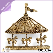 fashion newest ladies charms wholesale pretty vintage carousel pendant