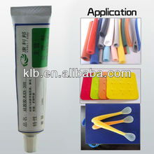 Silicone glue for bonding silicone rubber to plastic and metal