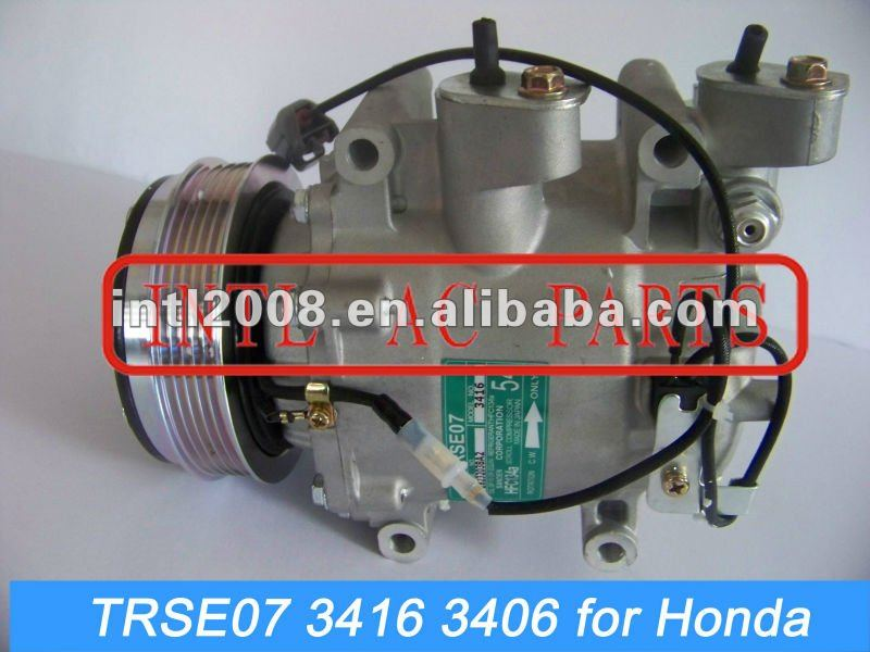TRSE07 PV5 car ac compressor for Honda Jazz/Fit/ City sanden 3416 3406 a c compressor air conditioning