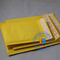 Yellow white custom printed self sealed cushion air kraft bubble envelope
