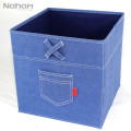 NAHAM Home Organization Square Foldable Denim Storage Box