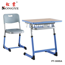 School Furniture Used High MDF material School Classroom best quality Single Desk and Chair for sale