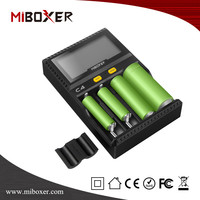 Miboxer C4 Smart Battery charger LCD intelligent charger 4 Slots Fit forAA 18350 18650.14500.26650 AAA battery charger