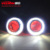 IPHCAR Auto Led Light Offer Laser Logo Projector Lamp with Led Angel Eyes