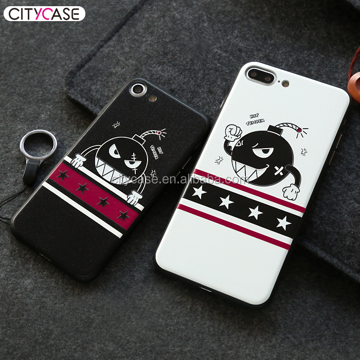 smartphones accessories For iphone cases custom print tpu Lovely bomb people with high quality