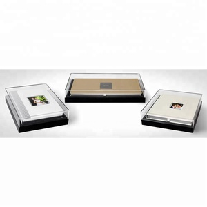 Lucite Storage Cube Case Professional Banner Album Acrylic Photo Albums