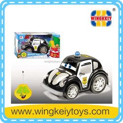 r/c police car 2 function with music light cartoon r/c rescue police car
