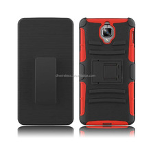 pc silicone case for Oneplus 3,belt clip cover for Oneplus 3 with square stand