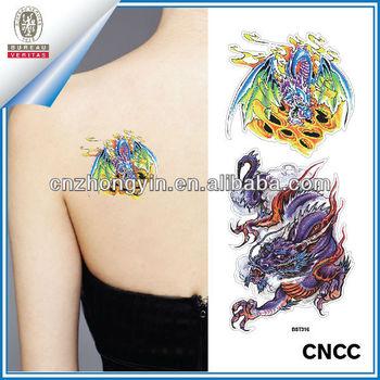 Custom glow in the dark body tattoo sticker zy3 5535 for Custom tattoo stickers