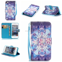 for ipod touch 6 case leather flip case with stand and card slots for ipod touch 6 luxury cell phone accessory