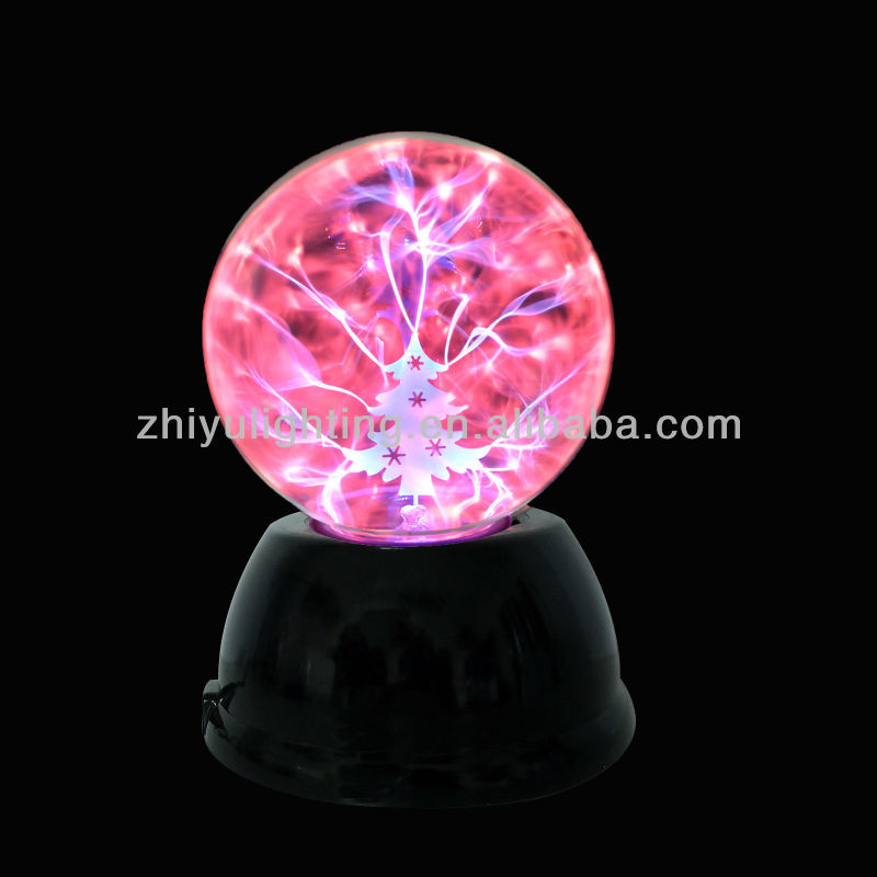 2013 hottest magic charming luminaire gift 5 inch plasma light with christmas tree
