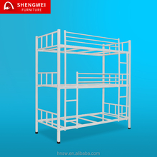 2017 factory sale durable 3 person modern triple metal bunk bed 3 layers