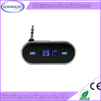 3.5mm in car Portable Mobile Phone FM Car Transmitter in Full Frequency Range