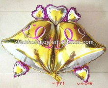 new design bell shape foil mylar balloon