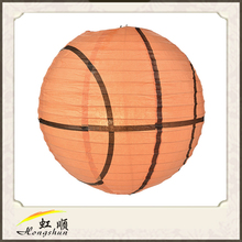 Newest Design Basketball Paper Lantern For Wedding Decoration