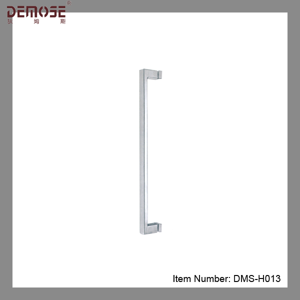 stainless round tube shower glass door handle