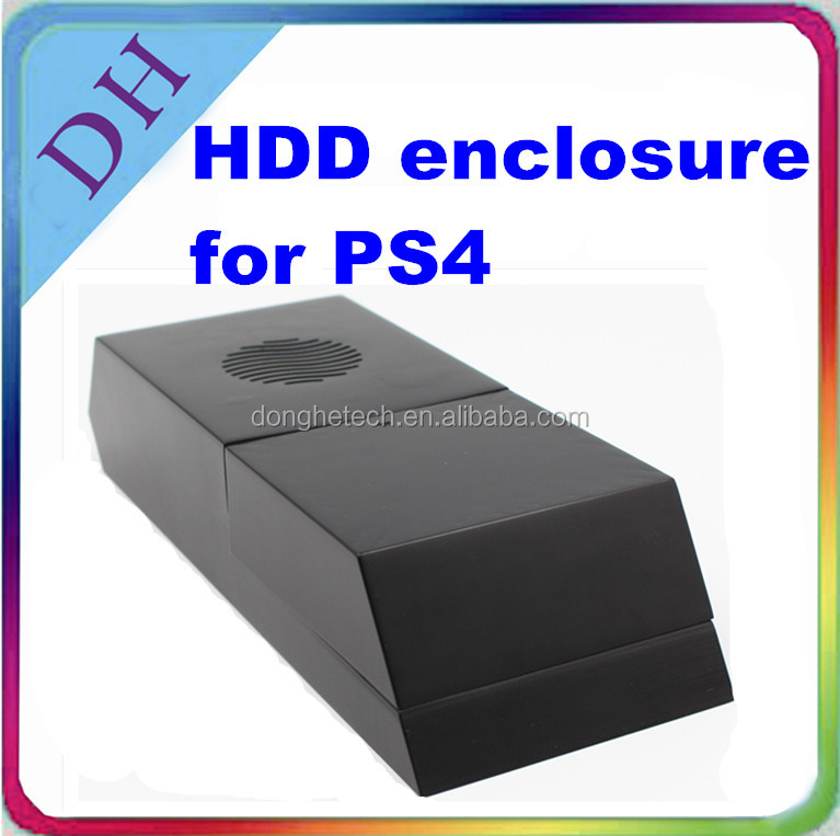 Black hdd caddy for PS4, two colors available, larger data space for PS4 games, supporting 3.5'' hdd hard drive enclosure