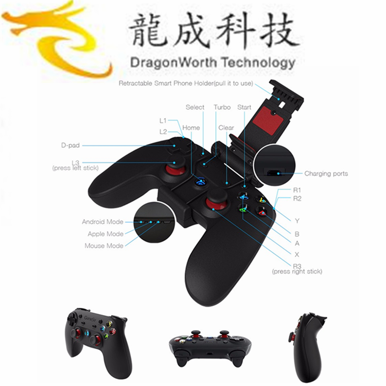 2017 China manufacturer direct supply GameSir G3s Gamepad Controller BT WiFi snes N64 Joystick vibration gamepad driver for sale