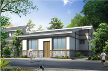 countryside prefab house with green engergy adjusting system