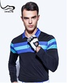 100% polyester dri fit mens long sleeve golf polo shirts