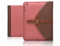 Low MOQ Genuine leather case for ipad air 2 envelop bag case / quick delivery protector for ipad air 2 leather bag