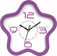 Clock Thermometer Hygrometer Purple Frame