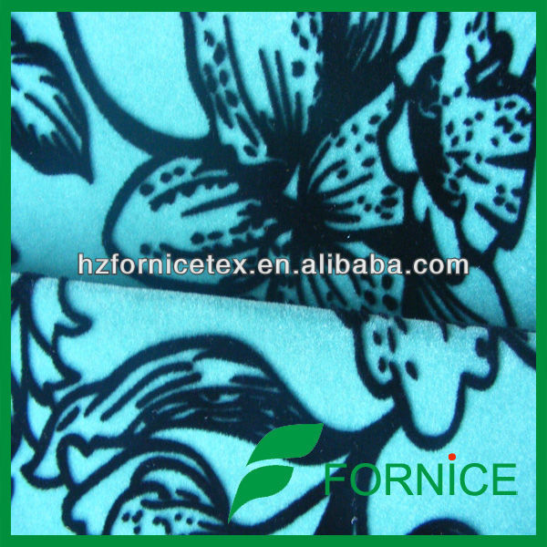 100 polyester flocked cushion cover fabric