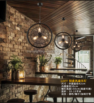 New Product Fashion European Style Ceiling Fan with Light Bronze Silent Modern decorative fans Hanging Light MS-P6051