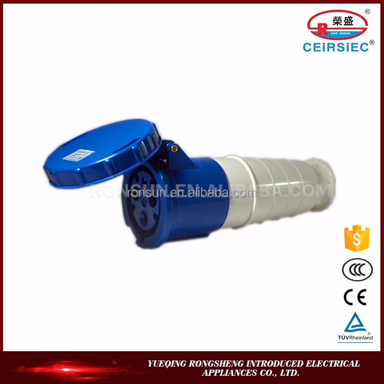 Industrial 63A 3P+N+E IP67 220V-380V quick connector
