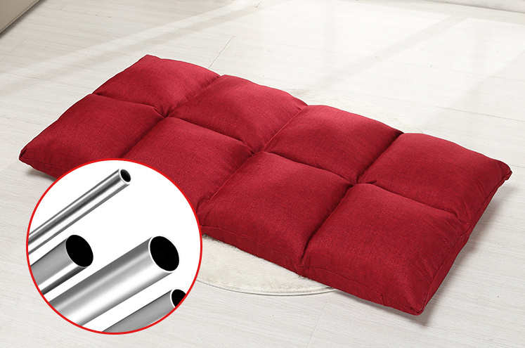 5 sections gear folding legless sofa chair in living room or bedroom