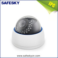 SafeSky cheap cost IR Plastic dome CCTV network IP camera
